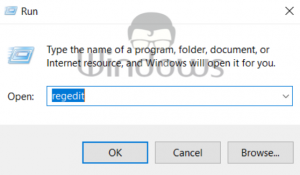 Registry Editor in Windows 10
