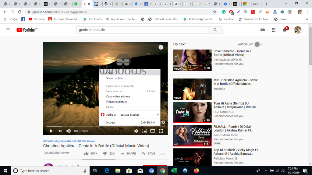 enable picture in picture mode on Google Chrome
