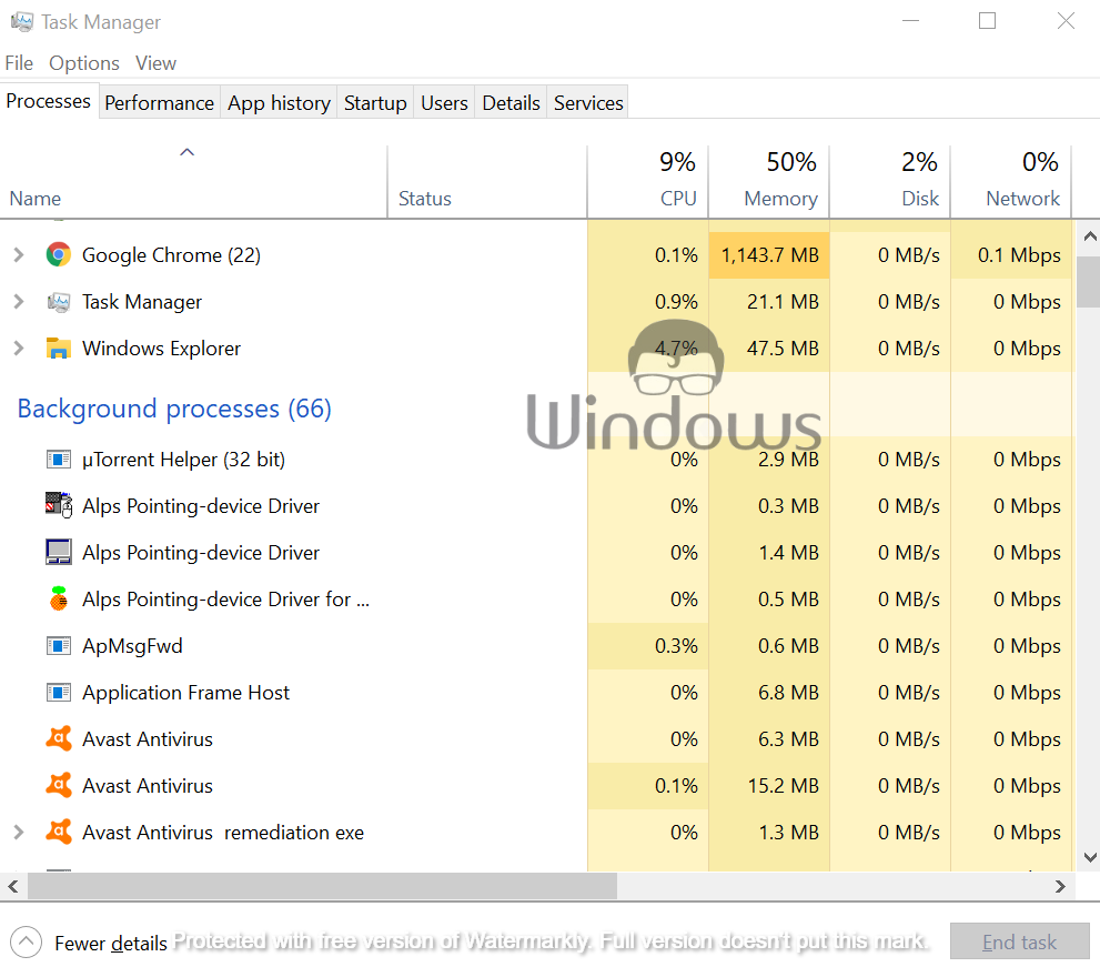 open Task Manager and create a shortcut of it
