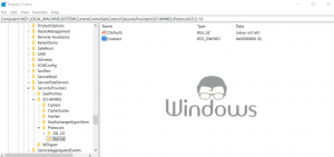 Disable TLS 1.0 in Windows 10