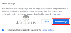 Google Chrome asked to change your password