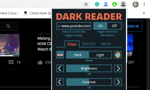 Install Dark Reader on Chrome