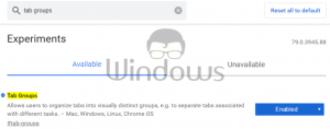 Enable Tab Groups in Google Chrome