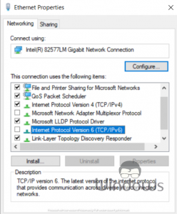 Fix Network Properties Unexpected Errors Occurred