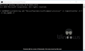 Command Prompt AutoComplete Doesn't Work in Windows 10