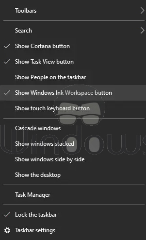 Windows Ink Experience