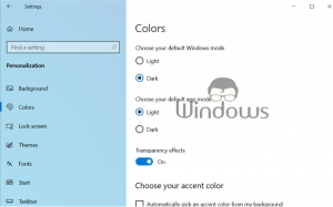 Disable Taskbar Transparency in Windows 10