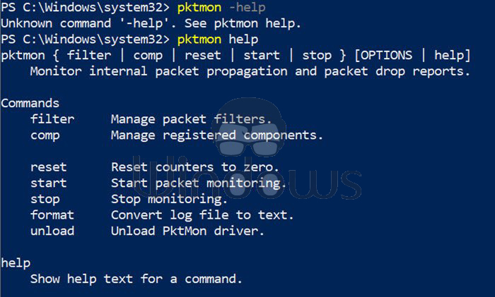 How to use the new PktMon.exe Tool in Windows 10