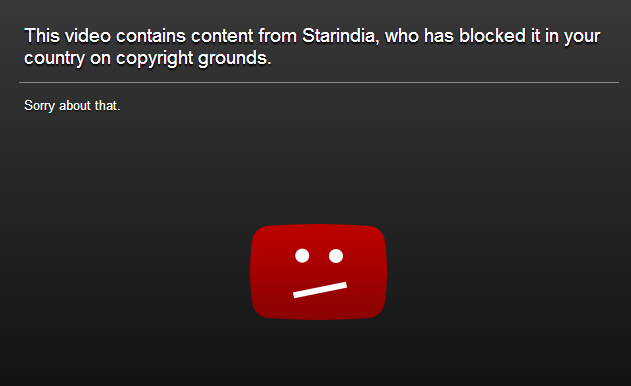 ProxFlow can't unblock this video because it is blocked