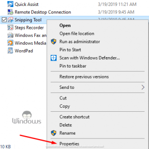 Snipping Tool Shortcut Not Working In Windows 10