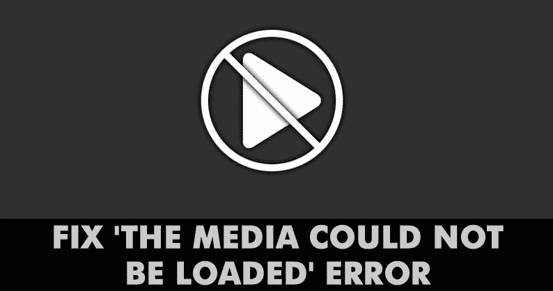 The media could not be loaded in Chrome