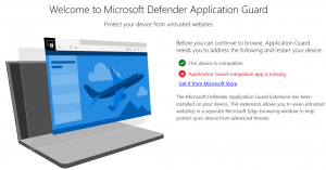 Install Windows Defender Browser Protection in Firefox