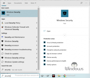 Add an Exclusion to Windows Security