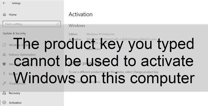 How to Fix Product key Issues in Windows 10