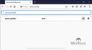 Blank Print Output in Firefox