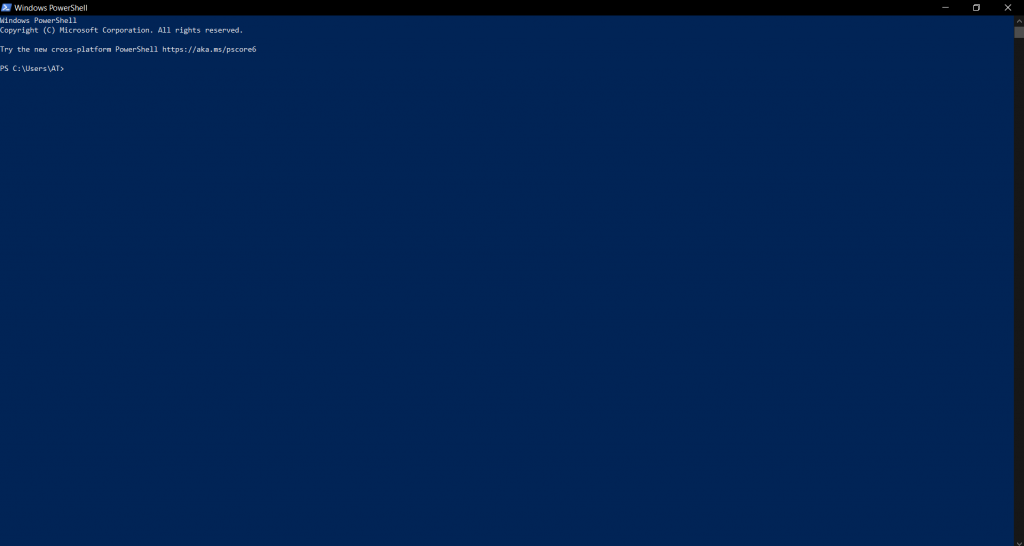 POWERSHELL 7.1.1 IN WINDOWS 10