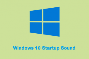 Enable or Disable Startup Sound in Windows 10
