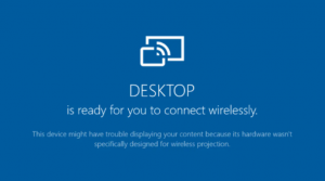 Miracast Not Supported by Graphics Drivers