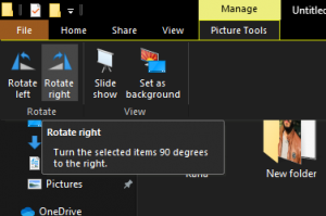 How to rotate an Image on a Windows 10