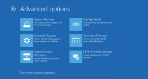 Launch Recovery Mode in Windows 10