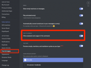 Text-to-Speech (TTS) Not Working on Discord
