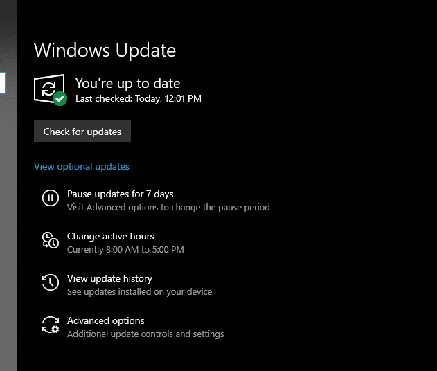 Update Display and Audio Drivers