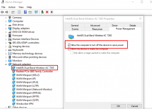 Make changes to driver power management
