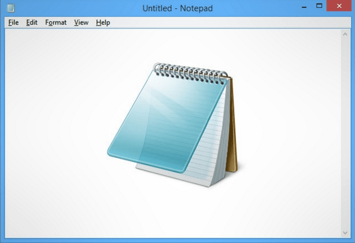 Notepad is missing